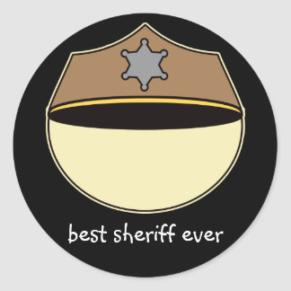 Custom Best Sheriff Ever Classic Round Sticker