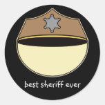 Custom Best Sheriff Ever Sticker