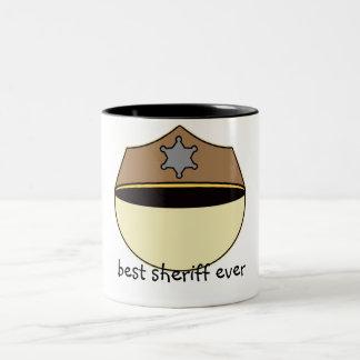 Custom Best Sheriff Ever Two-Tone Coffee Mug