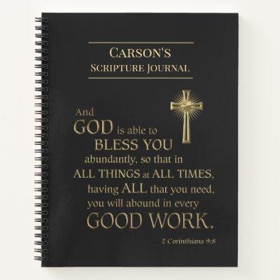 Custom Bible Scripture Journal