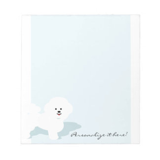Custom Bichon Notepad for Dog Lovers