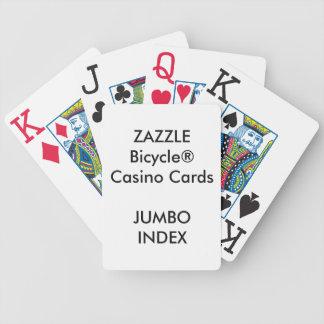 Custom Bicycle® Casino Playing Cards JUMBO INDEX