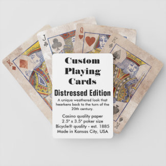 Custom Bicycle® Playing Cards - Distressed Edition