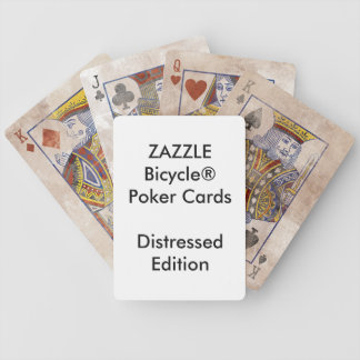 Custom Bicycle® Poker Playing Cards DISTRESSED