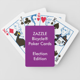 Custom Bicycle® Poker Playing Cards ELECTION
