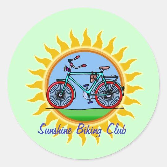 Custom Bicycling Club Logo Wear Classic Round Sticker