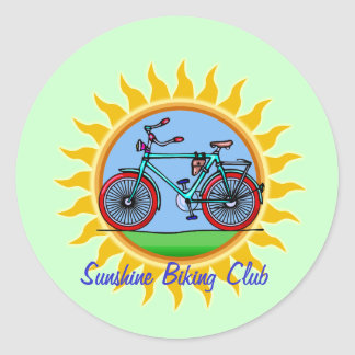 Custom Bicycling Club Logo Wear Stickers