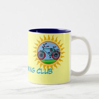 Custom Bicycling Club Logo Wear Two-Tone Coffee Mug