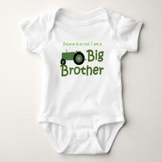 Custom Big Brother Green Tractor Baby Bodysuit