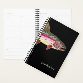 Custom Big Fat Rainbow Trout Angler's Planner