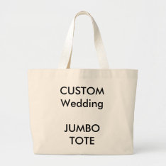 Custom Big Large Jumbo Shopping Tote Bag (natural) at Zazzle