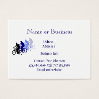 Custom Bike Logo for Cycling Enthusiasts Business Card