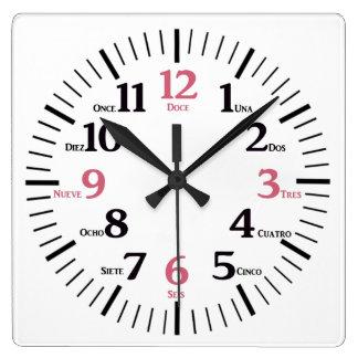 Custom Bilingual English/Spanish Clock