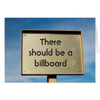 Custom Billboard Thank You Greeting Card