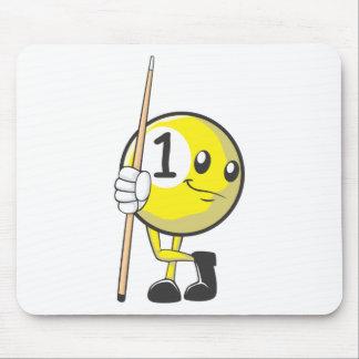 Custom Billiard Player Holding Cue Stick Mouse Pad
