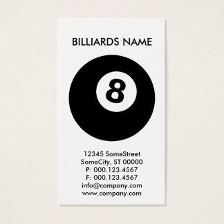 custom BILLIARDS business Business Card