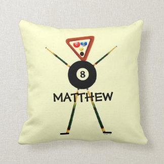 Custom Billiards Cartoon Throw Pillow