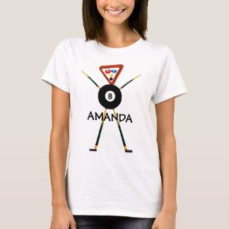 Custom Billiards Player Cartoon T-Shirt