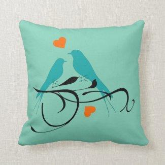 Custom Bird Art Pillow