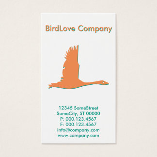 custom bird company business card