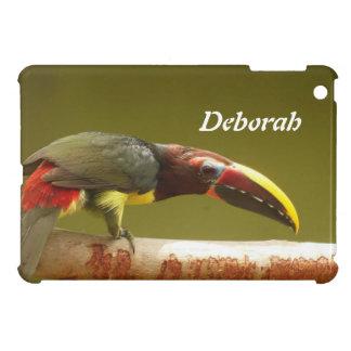 Custom bird green aracari toucan cover for the iPad mini