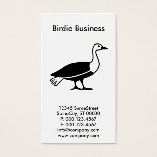 custom birdie company business card