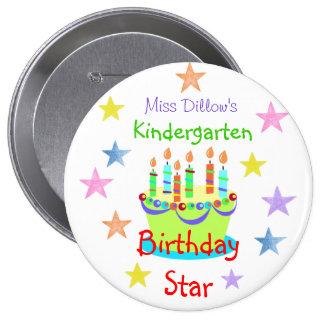 Custom Birthday Buttons for Teachers Template