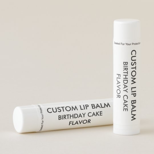 Custom BIRTHDAY CAKE FLAVOR Lip Balm
