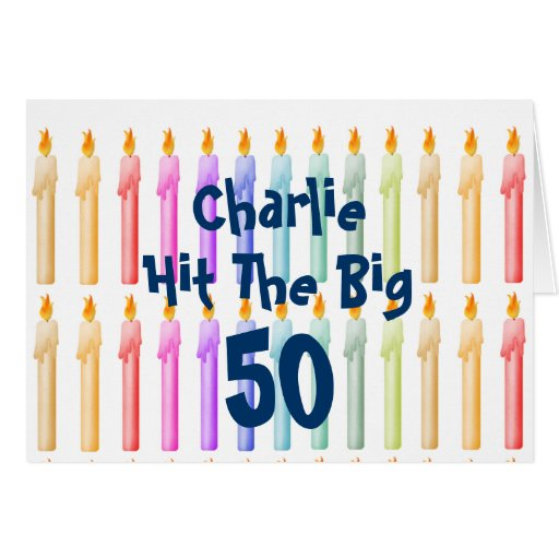 Custom Birthday Candles Gift Card