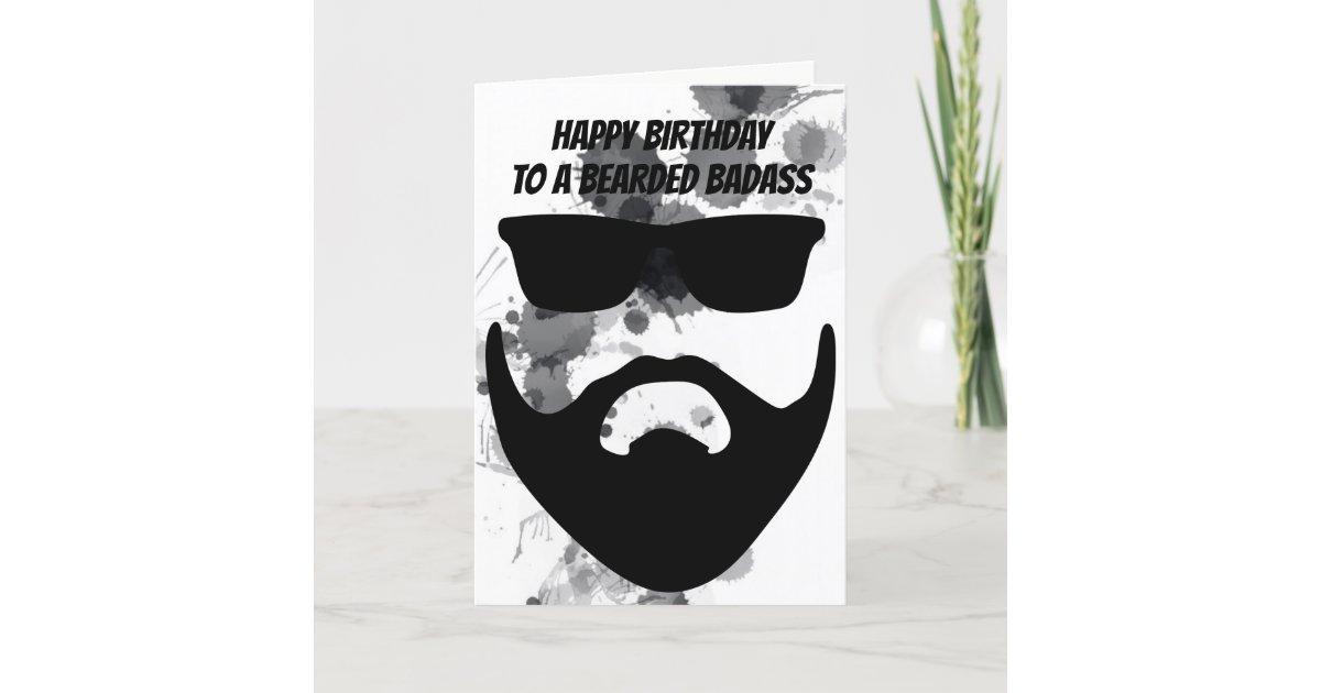 Custom Birthday Card for a Bearded Friend