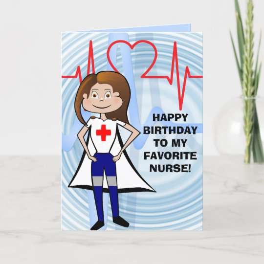 Custom Birthday Card For A Nurse
