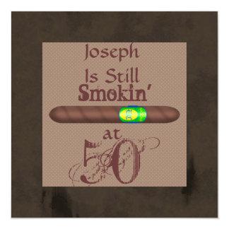 CUSTOM Birthday Cigar Invitations