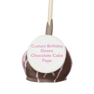 Custom Birthday Dozen Chocolate Cake Pops