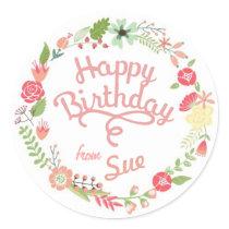 Custom Birthday Gift Tag Stickers