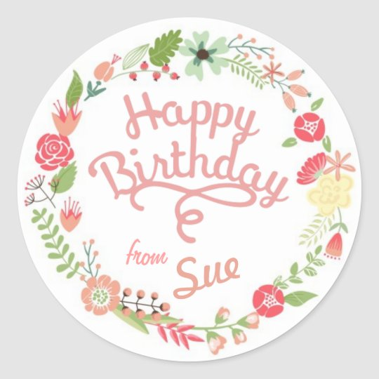 Custom Birthday Gift Tag Stickers