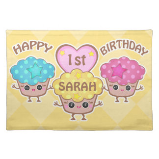 Custom Birthday Girl Dining Place Mat Cloth Placemat