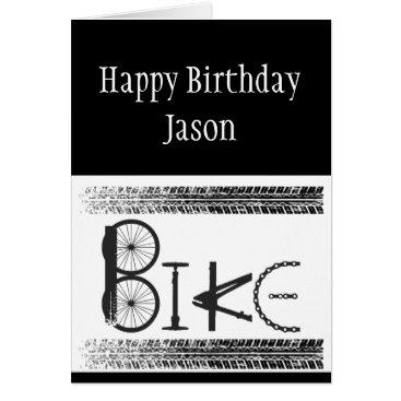 countrymousestudio Custom Birthday Graffiti Bike Parts Tire Tracks Card