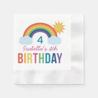 Custom Birthday Napkins | Rainbow Colors