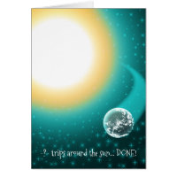 14 year old birthday cards greeting photo cards zazzle custom birthday orbits around the sun note cards bookmarktalkfo Image collections