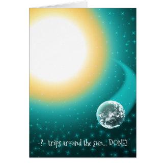 Custom Birthday Orbits Around the Sun Card