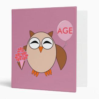 Custom Birthday Owl Binder
