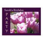 "Custom Birthday Party Invitations Cards Tulips 5"" X 7"" Invitation Card"