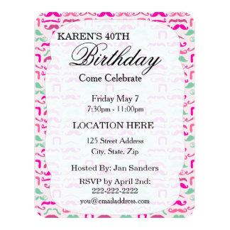 Custom Birthday Party Invitationspersonalize 4.25x5.5 Paper Invitation Card