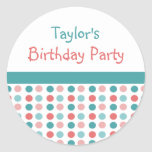 Custom Birthday Party Name Stickers