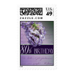 Custom Birthday Postage for 80th birthday