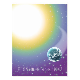 Custom Birthday Trips Around the Sun Postcard