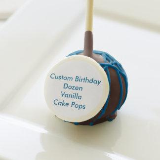 Custom Birthday Vanilla Cakepop