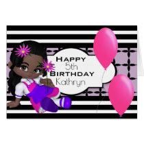 Custom Birthday w/Cute Lil Girl Card