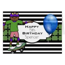 Custom Birthday w/Skateboarder Card
