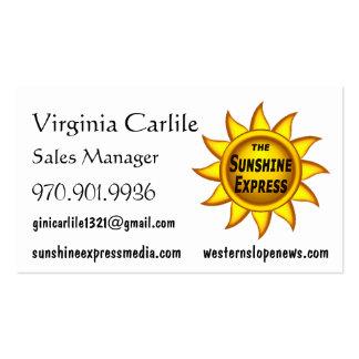 Custom Biz Card Sunshine Express